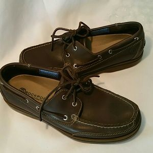 NWOT ROCKPORT LEATHER LOFTERS BOAT SHOE 9.5 M